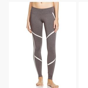 alo Yoga leggings gray with white trim size medium